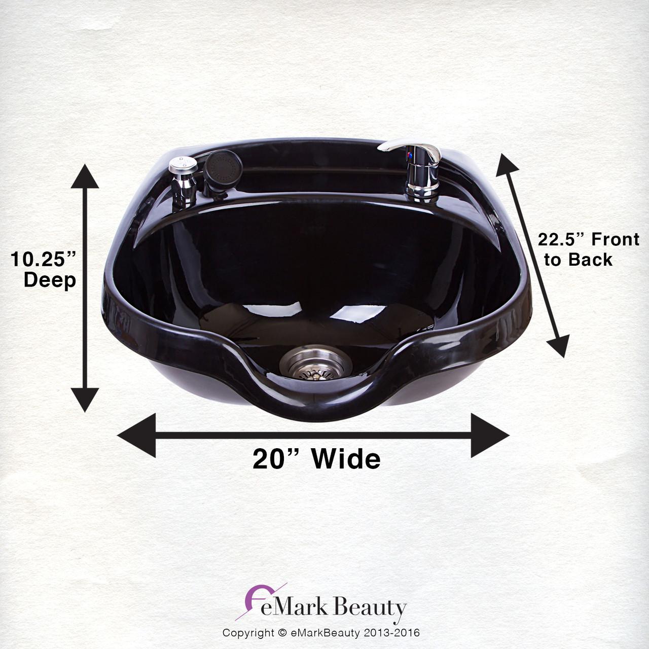 Beauty Shampoo Bowl Sink Beauty Salon Barber Shop Hair Styling Vacuum Towels TLC-B12