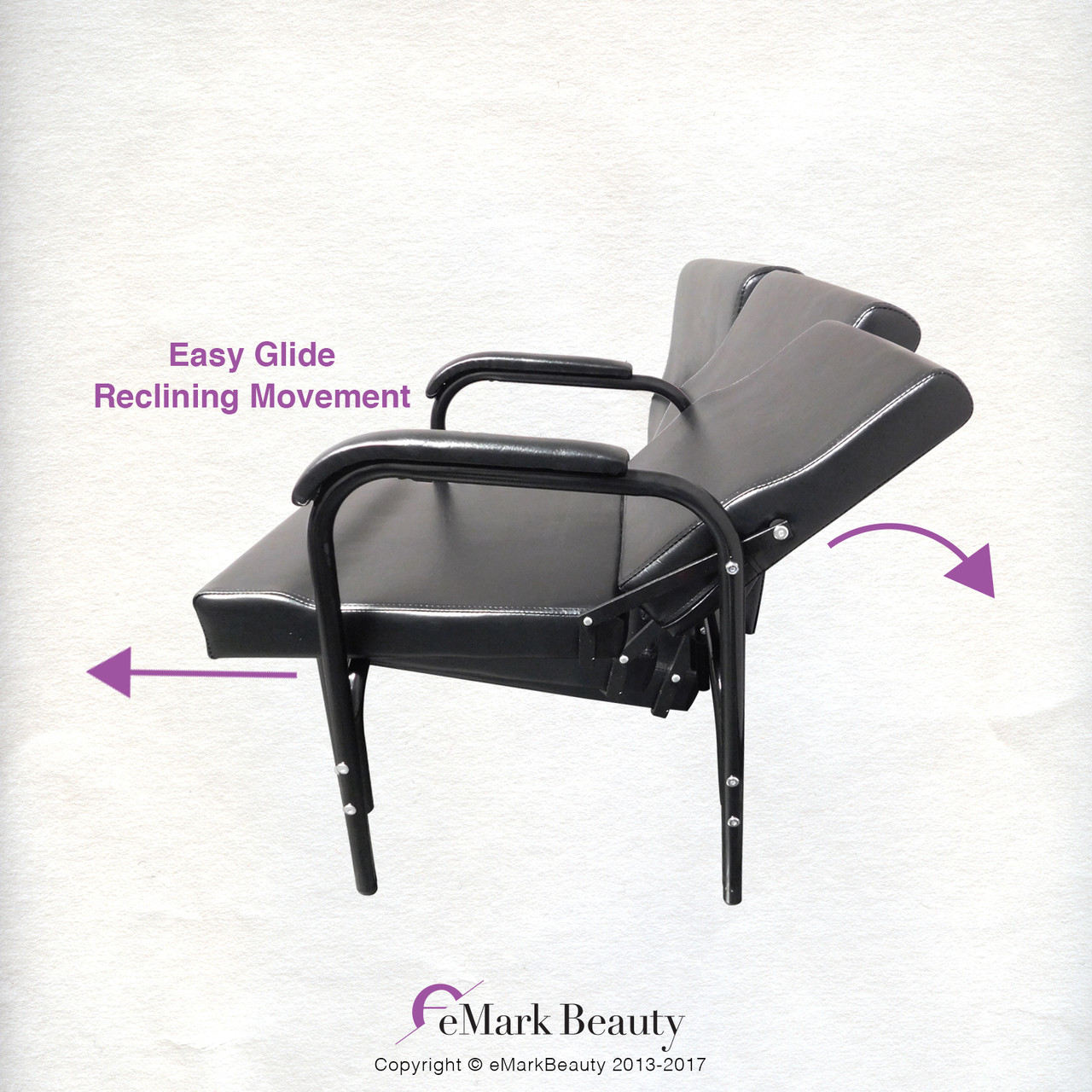 Auto Recline Reclining Barber Hair Styling Salon Spa with Lumbar Support TLC-216