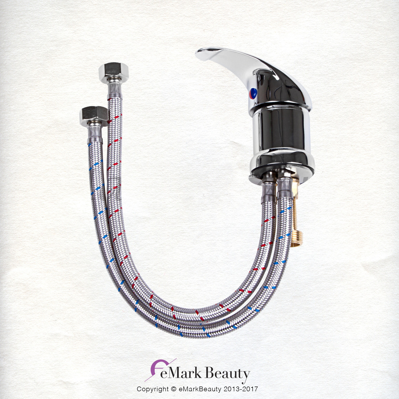 Plumbing Parts Kit for use with Shampoo Bowls with Chrome Faucet Sprayer Hose and Small Gel Neck Rest TLC-1164SHG