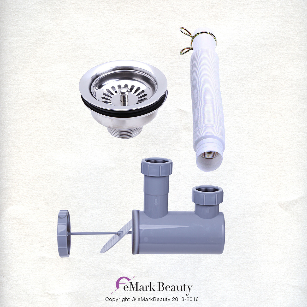 Upgraded Plumbing Parts Kit for use with Shampoo Bowls with Gel Neck Rest TLC-116KS.77DH