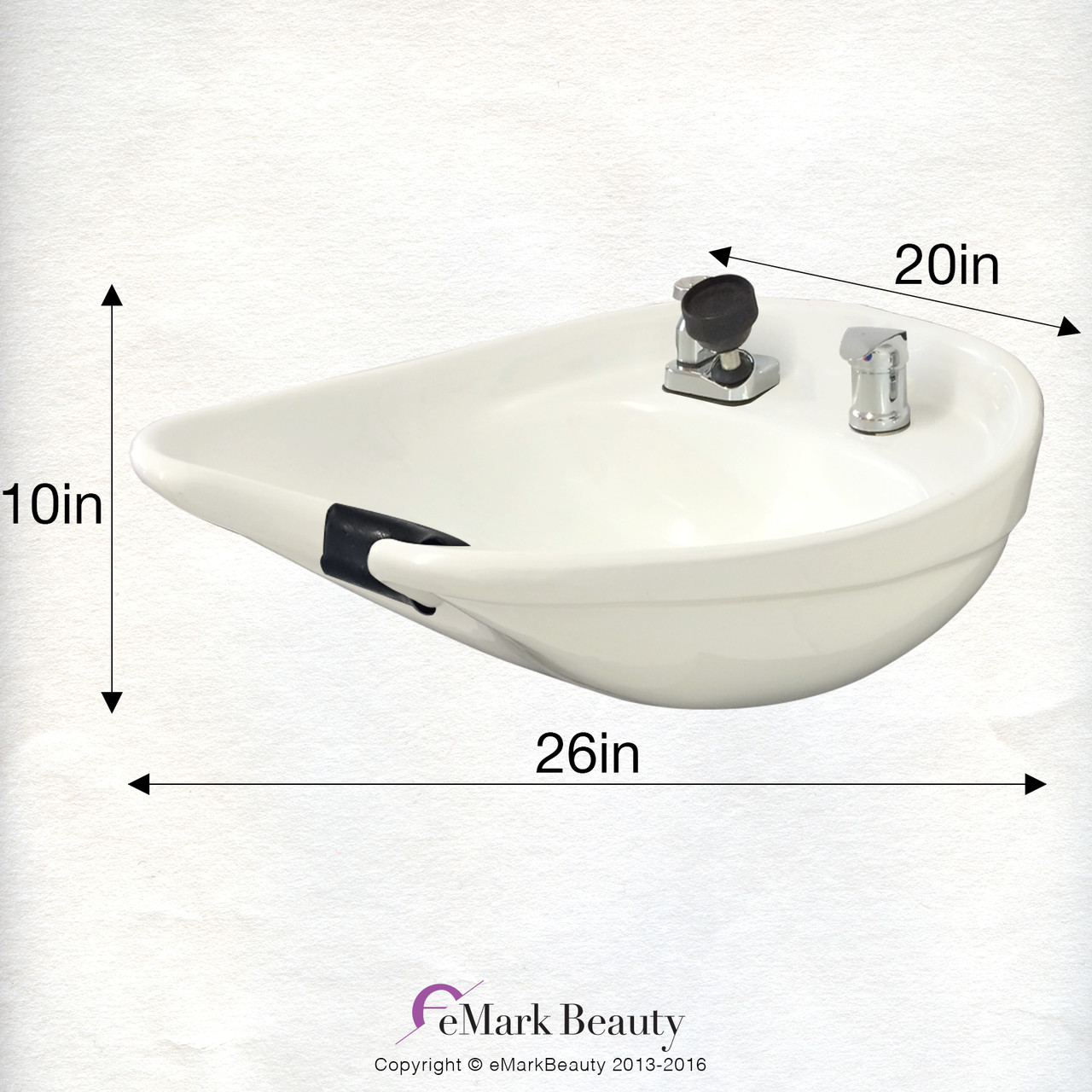 Salon Shampoo White CERAMIC Tilt Bowl Wall Mounted Beauty Salon Equipment TLC-W07