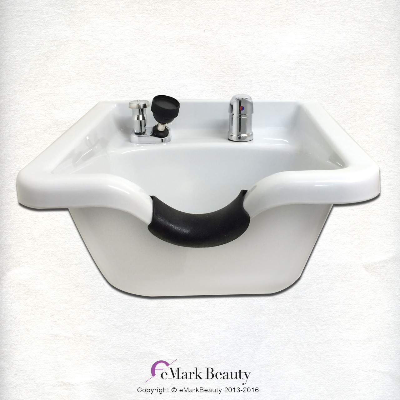 Square White ABS Plastic Shampoo Bowl TLC-W11 KSGT