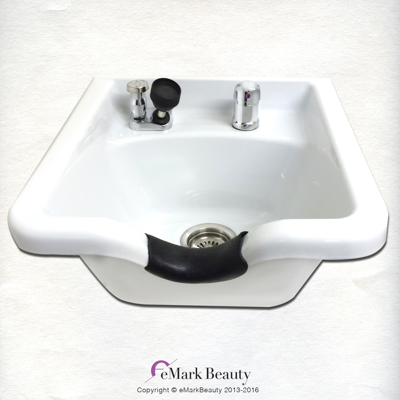 BACK IN STOCK ON 9/30: Square White ABS Plastic Shampoo Bowl TLC-W11 KSGT