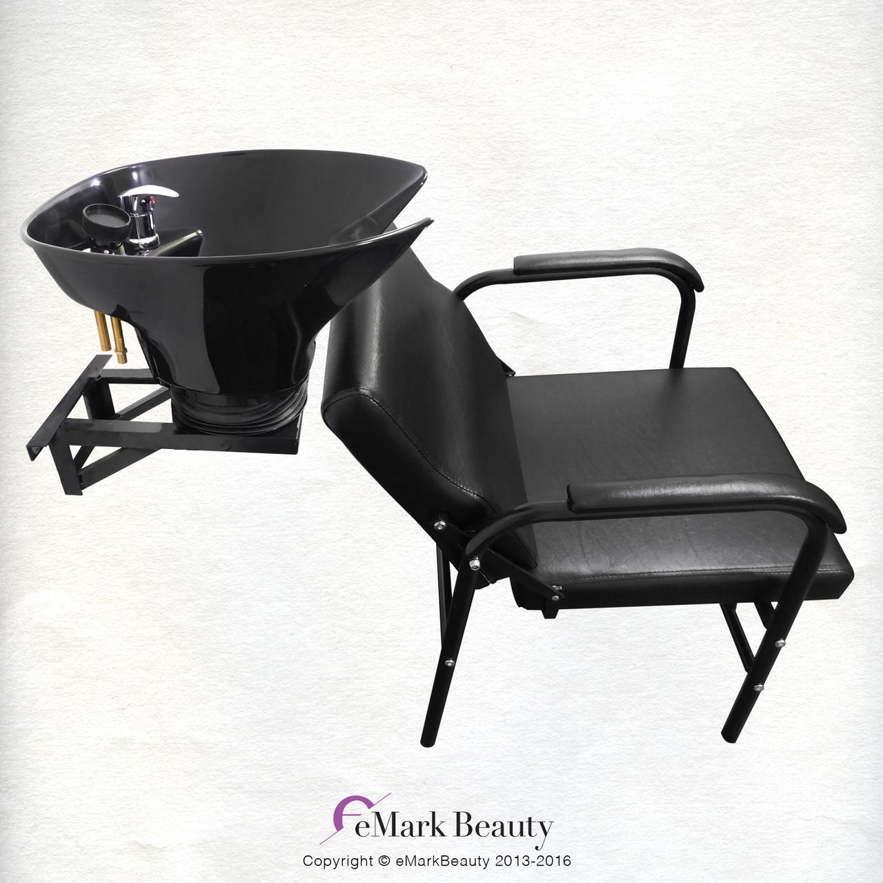 Salon Shampoo Tilt Bowl Sink Wall Mounted Reclining Shampoo Chair TLC-B36WT-216A