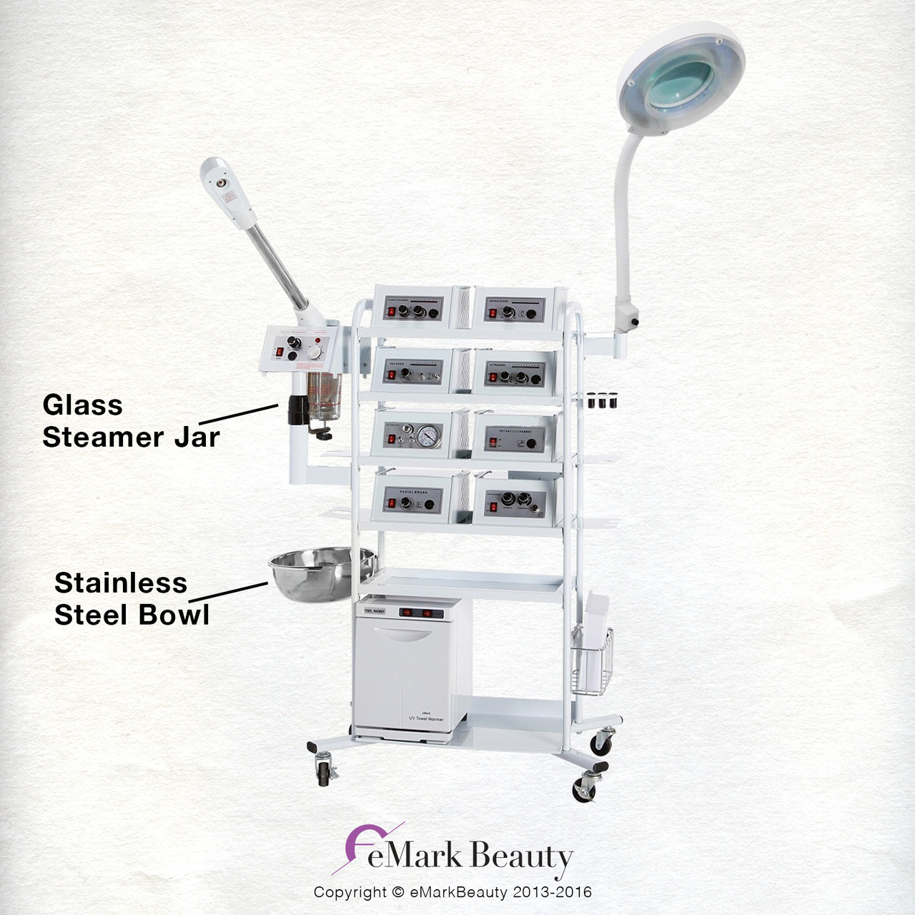 18 in 1 T4DW Multifunction Machine with Flexible Arm Magnifying Lamp & Glass Jar Steamer