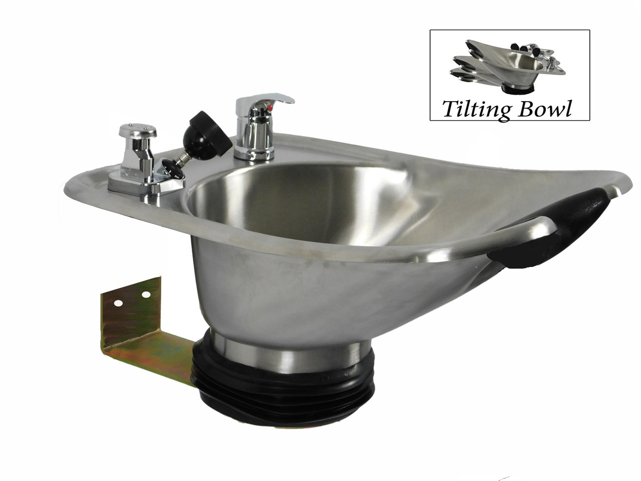 Brushed Tilting  Stainless Steel  Wall Mounted Beauty Salon Shampoo Bowl TLC-1567WT