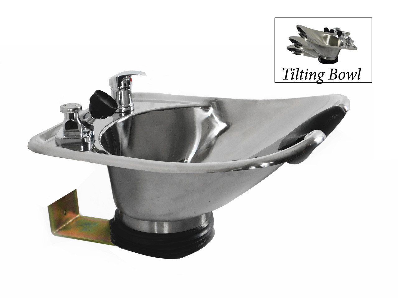 Polished Tilting Stainless Steel Wall Mounted Beauty Salon Shampoo Bowl TLC-1568WT
