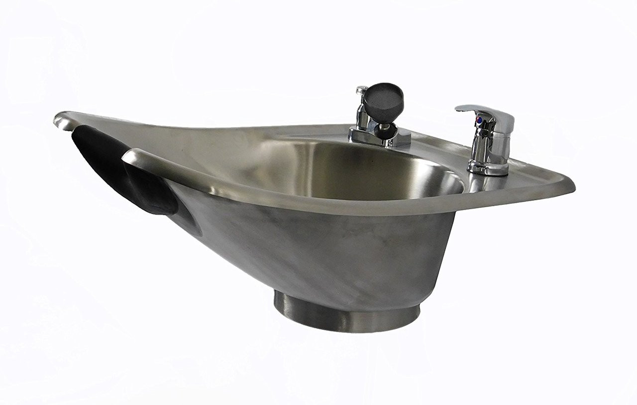 Brushed Stainless Steel Beauty Salon Shampoo Bowl TLC-1567