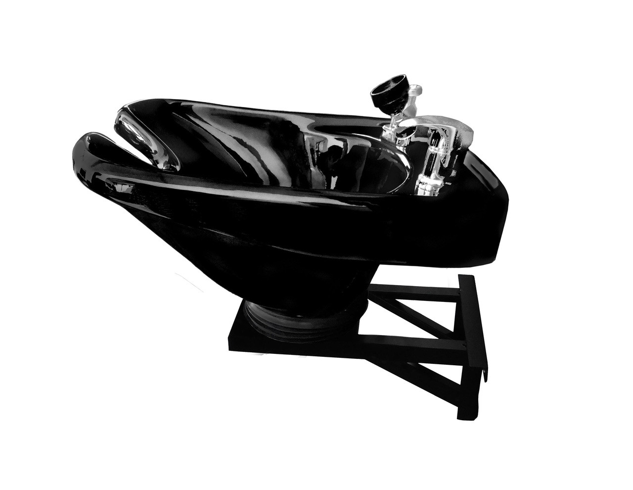 Salon Shampoo Black CERAMIC Tilt Bowl Wall Mounted Beauty Salon Equipment TLC-B33-WT