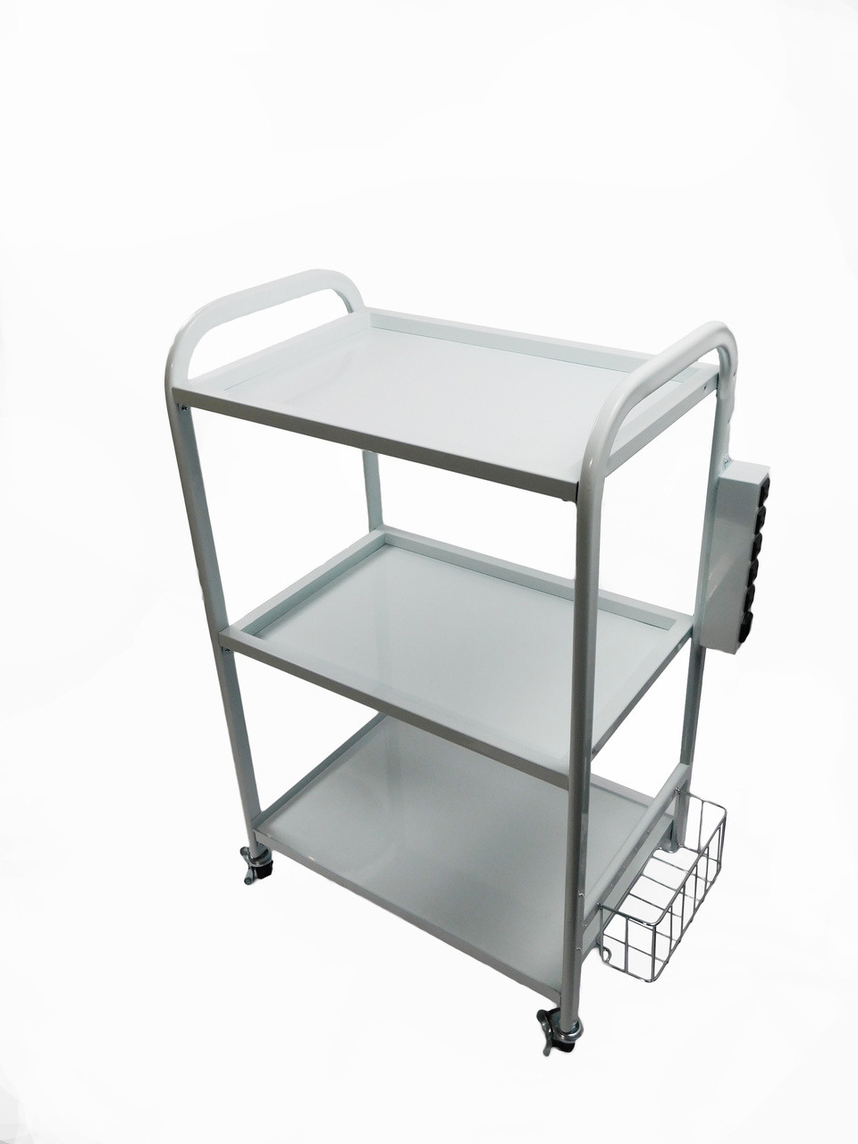 2 Tier Shelving Mobile Cart with Multi Outlet Power Supply TLC-3333
