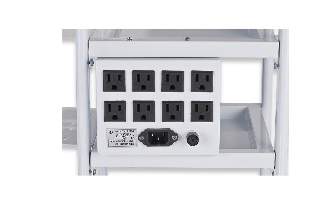 eMark Beauty Multi-Outlet Power Supply Box with Cord for Facial Carts- TLC-8000P