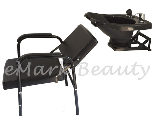 Salon Backwash Shampoo Bowl Sink Wall Mounted Reclining Shampoo Chair B-13WT-216A