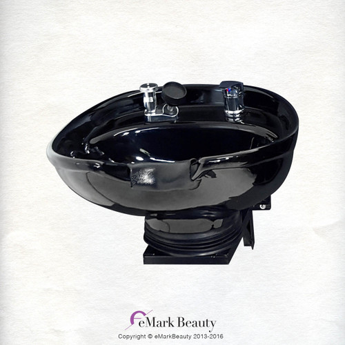 Salon Shampoo CERAMIC Tilt Bowl Wall Mounted Beauty Salon Equipment TLC-B07-WT