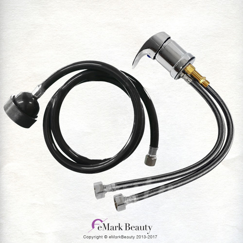 Hot & Cold Faucet with Sprayer Hose Combo TLC-1164SH