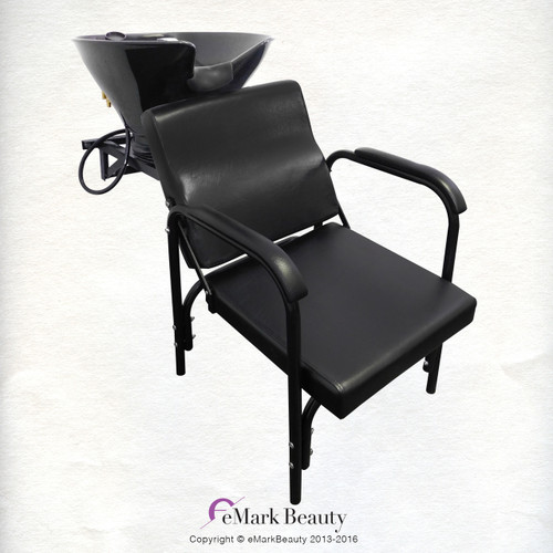 Salon Shampoo Tilt Bowl Sink Wall Mounted Reclining Shampoo Chair TLC-B36WT-216