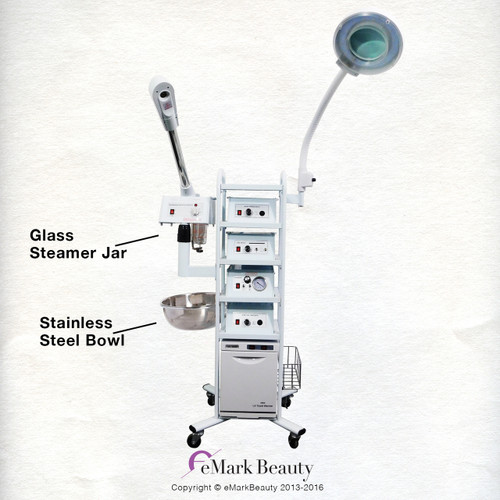 13 In 1 T4a Flexible Arm Magnifying Lamp & Glass Jar Steamer