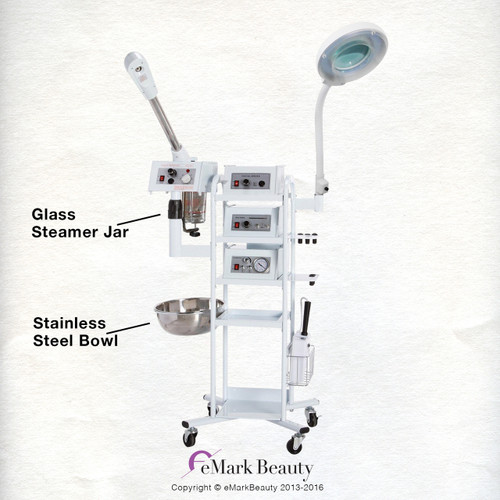 9 In 1 T3 Flexible Arm Magnifying Lamp & Glass Jar Steamer