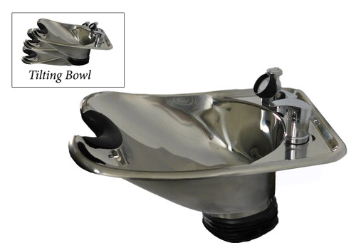 Polished Tilting Stainless Steel Wall Mounted Beauty Salon Shampoo Bowl TLC-1568WT