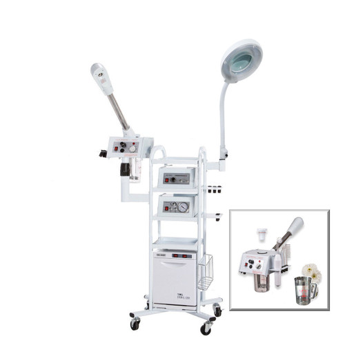 A11 Facial Machine: High Frequency Aromatherapy Steamer, Galvanic, Vacuum Extractor, Spray Diffuser, Hot Towel Warmer
