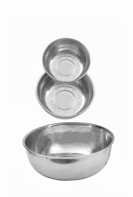 Stainless Steel Utility Bowls Set of 3: Small, Medium, Large