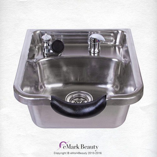 Stainless Steel Shampoo Bowl with Brushed Finish  TLC-1167