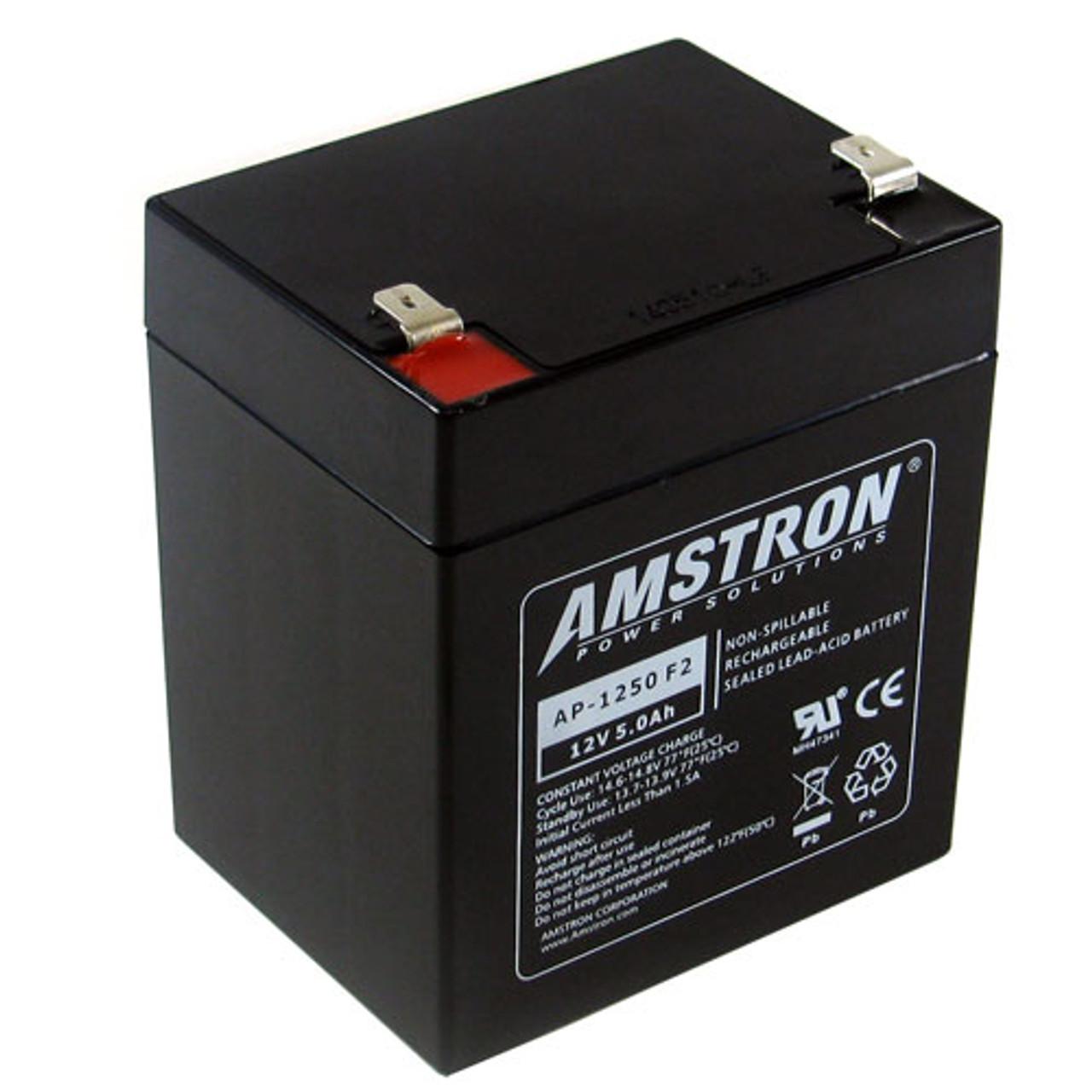 Lead Acid Battery >> Amstron Ap 1250f2 12v 6ah Sealed Lead Acid Battery F2 Terminal