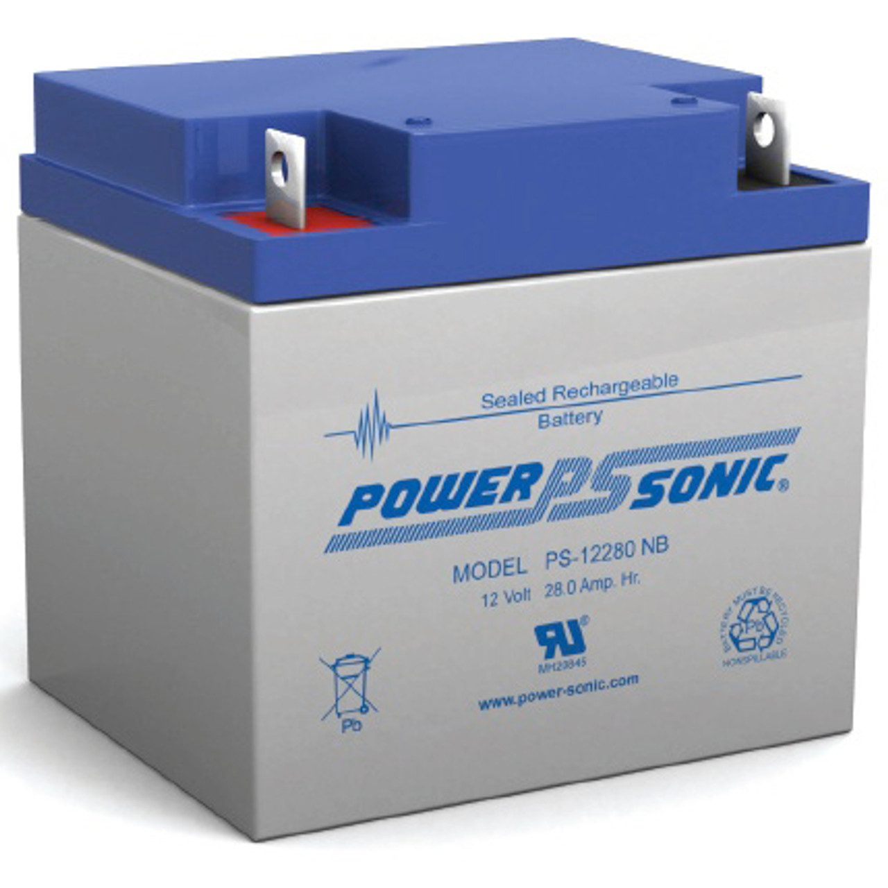 Lead Acid Battery >> Power Sonic Ps 12280 12v 28ah Sealed Lead Acid Battery Nb Terminal