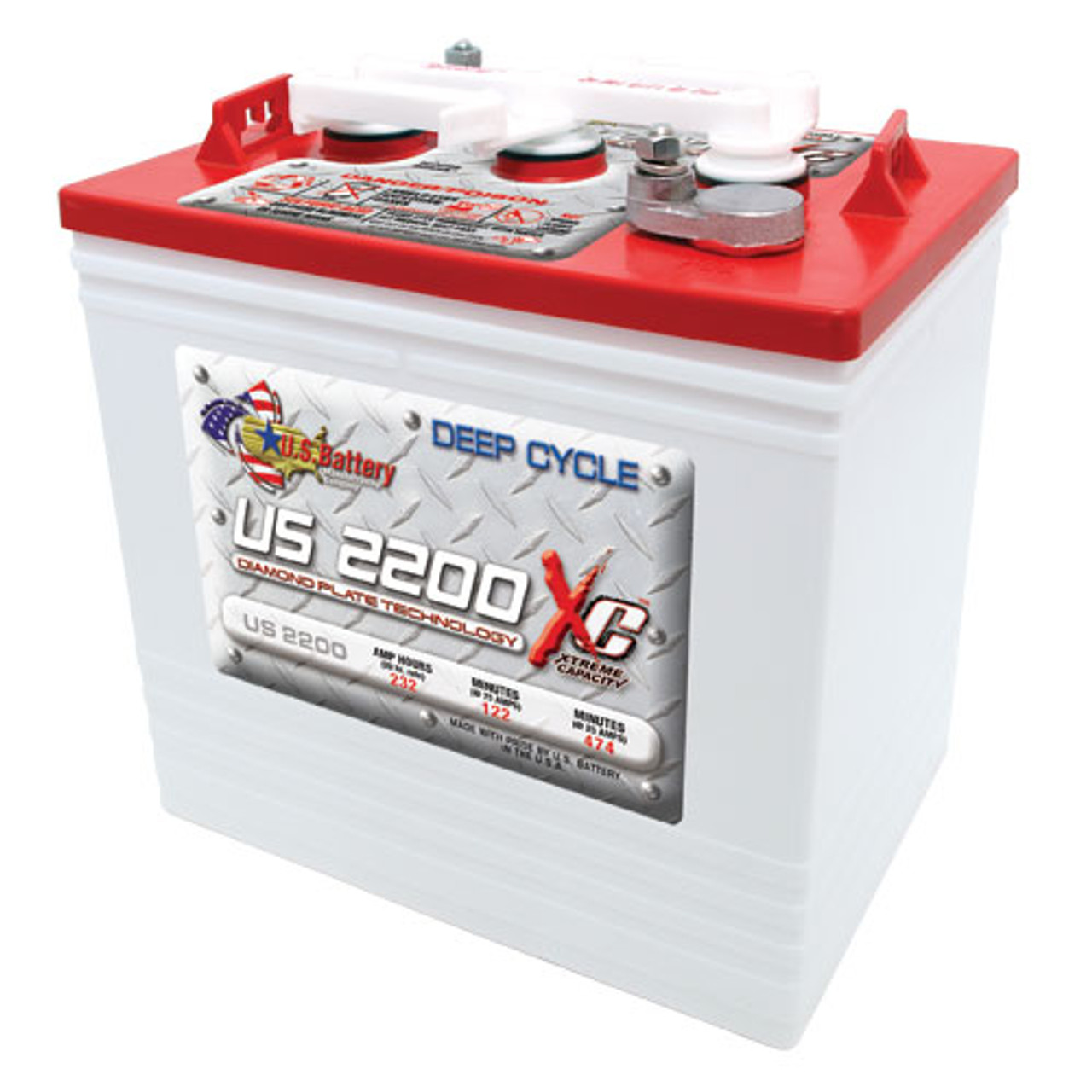 US Battery US2200XC 6V Deep Cycle Battery