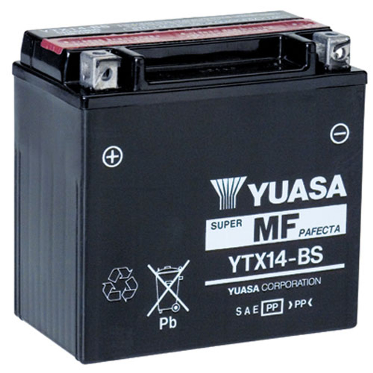 6a7e09f6 Yuasa YTX14-BS 14Ah 200 CCA maintenance-free powersports battery