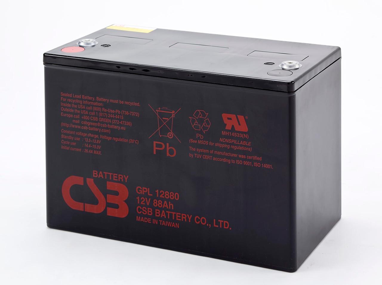 CSB GPL12880 12V 88Ah Long Life Battery