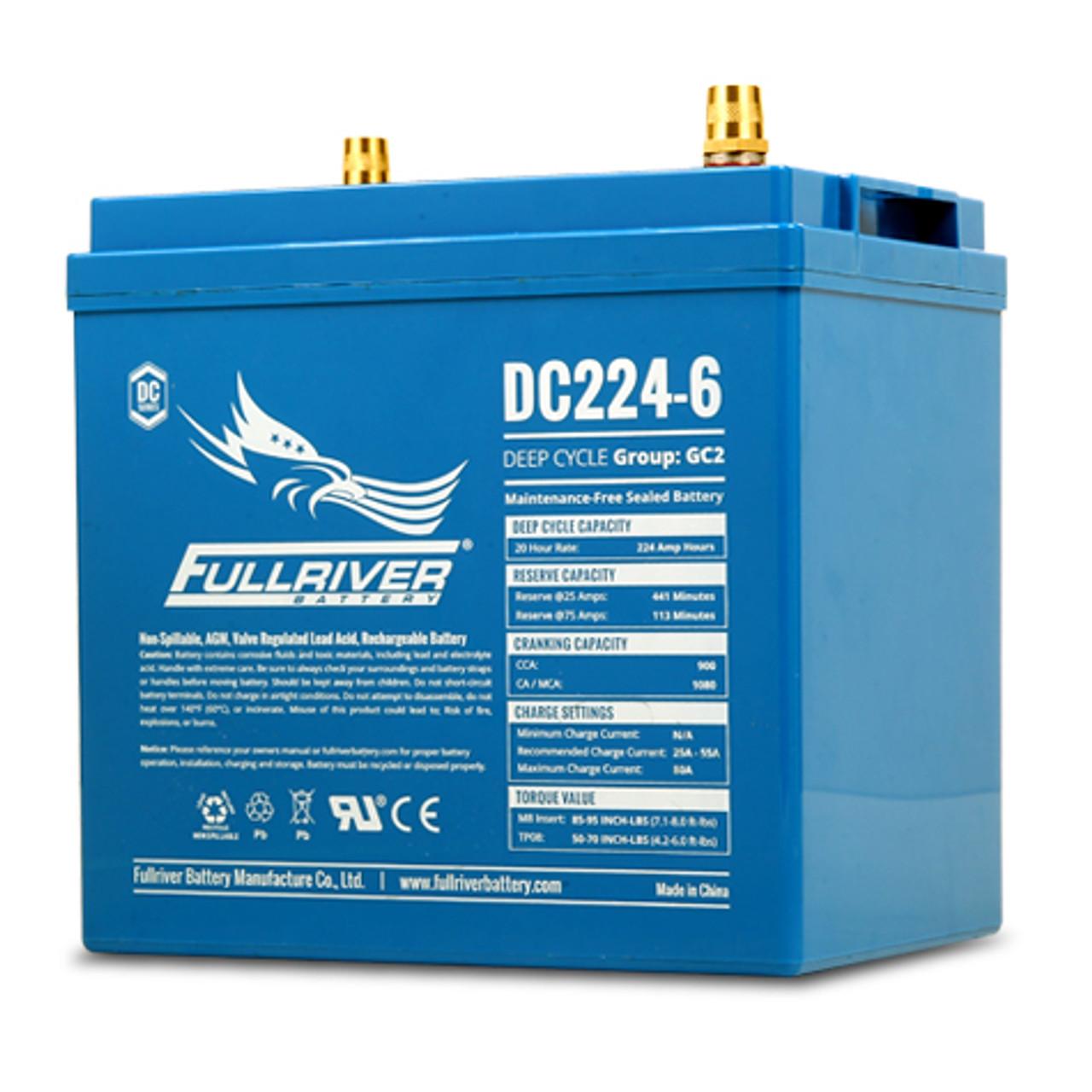 Fullriver DC224-6 Deep Cycle AGM Battery (Size GC2)