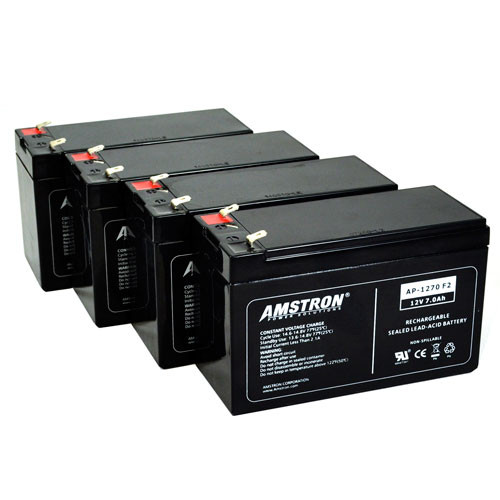 Amstron UPS Backup Battery Replacements for APC RBC Batteries (4-Pk)