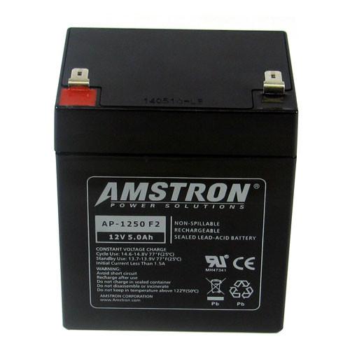 Battery Replaces Amstron AP-1250F2 AP-1250 F2 12V 5Ah F2 Sealed Lead Acid SLA