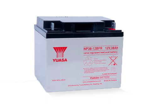 YUASA NP38-12B FR Sealed Lead Acid Battery with NB Terminal