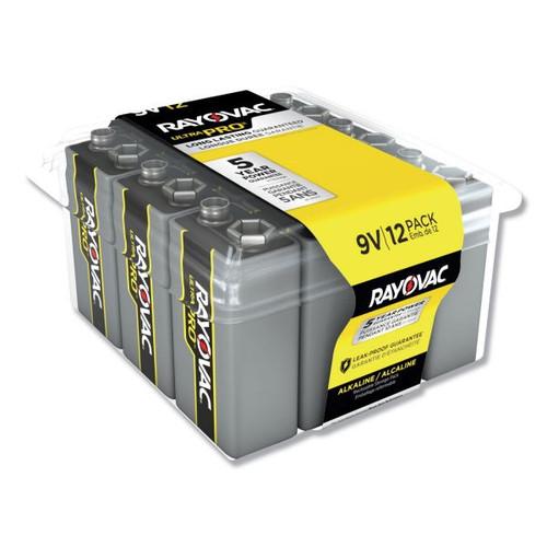 Rayovac A1604 9V Ultra Pro Alkaline Batteries - 12 Pack