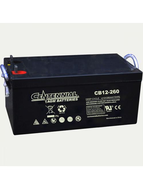 Centennial CB12-260 12v 260Ah Group 8D AGM Battery - Clearance sale item