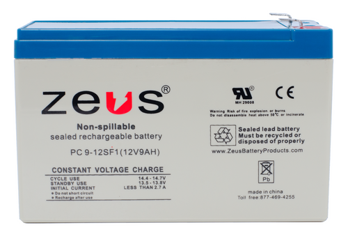 PC9-12S-F1 Zeus 12V 9Ah SLA Battery - F1 Terminal