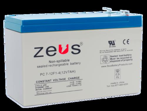 PC7-12-F1 Zeus 12V 7Ah SLA Battery - F1 Terminal
