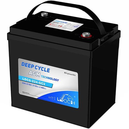 Leoch LDC6-224-GC2 224Ah AGM Deep Cycle Battery