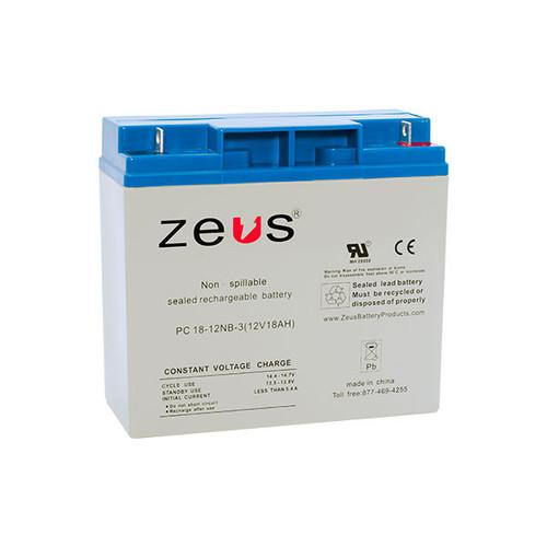 PC18-12NB Zeus 12V 18Ah SLA Battery - NB Terminal