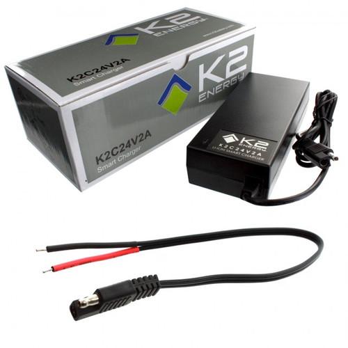 K2 Energy K2C24V2A 24V 2Ah LiFePO4 Smart Charger