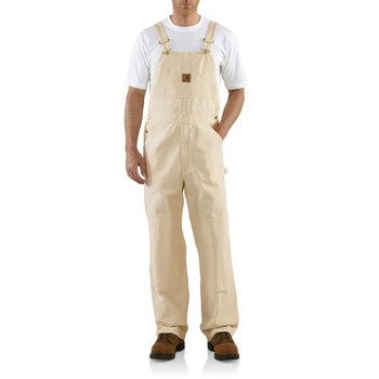 Carhartt Washed Drill Double Knee Bib Overall - Un
