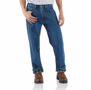 Carhartt Men's Relaxed Fit Straight Leg Flannel Lined