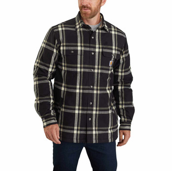 Carhartt Relaxed Fit Flannel Sherpa-Lined Snap-Front
