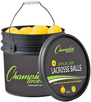 Lacrosse Ball Bucket 36 Balls Yellow