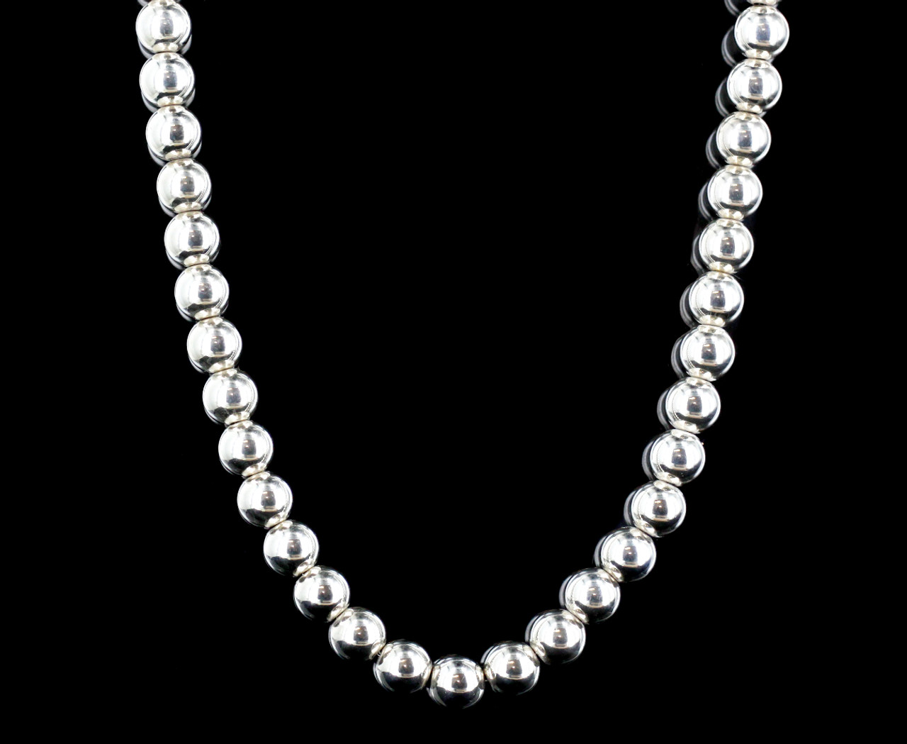 b2d14e53b Vintage Tiffany & Co Sterling Silver Ball Bead Necklace 18