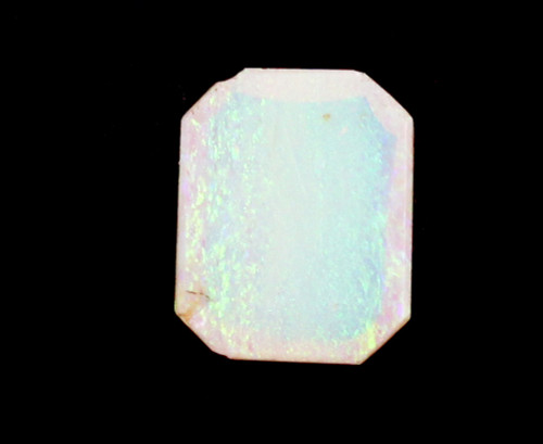 0.5ct Cabochon Australian Flashy White Opal Gemstone Red Green Yellow Flash