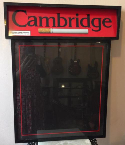 Vintage Cambridge Cigarettes Philip Morris Light Up Menu Board Bar Restaurant