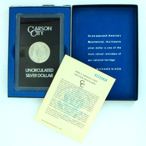 1882-CC  Pl Proof Like Carson City $1 Morgan Silver Dollar Orig Packaging