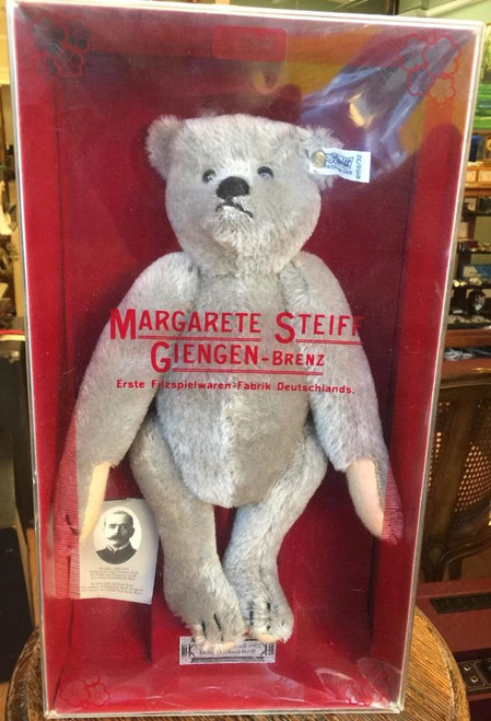 "1982 Margarete Steiff Teddy Bear 1902 Replica BOXED Not Dispayed 12""H-#0150/32  Voice Box"